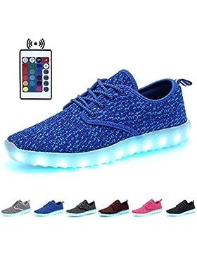[Patrocinado]KEALUX 7 Colores USB Cargando Brillante LED Chicas Chicos Niños Respirar Noctilucente Zapatos Deportivos Baja...