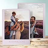 Fotobuch edel, Fotobuch Solo 32 Seiten, 16 Blatt, Hardcover 234x296 mm personalisierbar, Violett