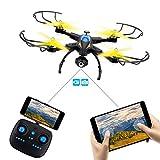 WIFI FPV Drohne mit einstellbarer 720P HD-Kamera. SHIRUI M50 faltbare Altitude Hold Fernsteuerung per iPhone/Android-App mit Echtzeitbildübertragung. 2*Akkus