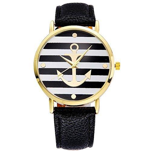 souarts-damen-schwarz-streifen-armbanduhr-armreif-uhr-mit-batterie-zifferblatt