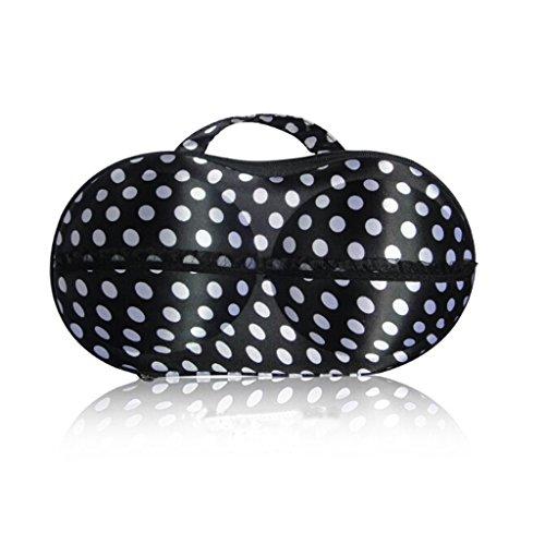 Estuche protector organizador portátil para viajes para sujetador y lencería 32*17*8cm negro por Combination of Life