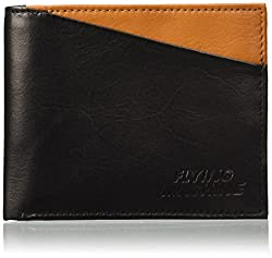Flying Machine Black and Tan Mens Wallet (FMAW0233)