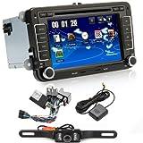 7 Inch Double DIN Bluetooth FM Full Map 3G Car Radio Sat Nav DVD GPS Radio RDS for VW Passat Golf 5 6 Touran Tiguan Transporter Multivan T5 Polo Jetta Caddy Skoda Seat Altea