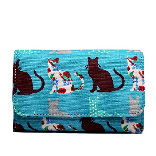 Miss Lulu , Damen Tote-Tasche Cat Teal Set