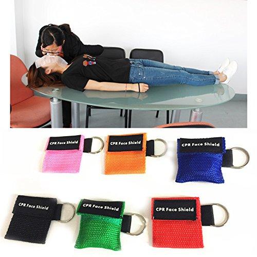 Ersticken Erste Hilfe (wlgreatsp Wartbaren CPR Keychain Face Shield Erste Hilfe Rettungs Kits Randon Farbe)