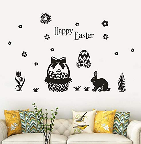 Yzybz Hot Happy Easter Eggs Sticker Wall Decals Home Decorative Rabbits Design Wall Stickers Kids Room Decoration (Hot Halloween Rabbit)