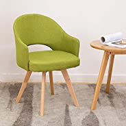 Nordic solid wood dining chair to discuss chair coffee chair simple modern desk chair