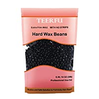 TEERFU Professional Hard Wax Beads 400g, Stripless Depilatory Waxing Pellets Solid Film Beans No Strip Needed, Painless Gentle Hair Removal of Full Body, Face & Bikini Line