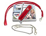 Victorinox Kindermesser rot transparent mit Säge Nakenband Karabinerkette My First