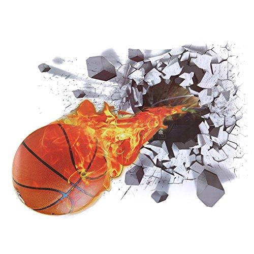 CHIC-CHIC 3D Wandaufkleber Wandtattoo Schlafzimmer Wandsticker Wand Aufkleber deko DIY Wandbilder (Basketball)