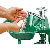 Al aire libre–y grifo para fregadero–integrado potable agua fuente–Transforma cualquier espiga de jardín en un 2en 1estación de limpieza y agua–viene con todos los accesorios de instalación, fácil de instalar