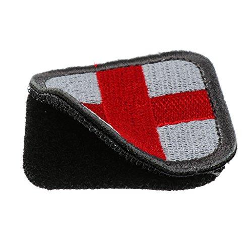 MagiDeal Outdoor Erste Hilfe Rotes Kreuz Klettverschluss Abzeichen Patch 50 x 50mm in verschiedenen Farben - Weiß