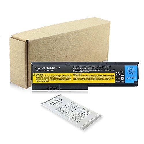 Replacement Notebook Laptop Battery Akku für Lenovo IBM ThinkPad X200 X200s X201 X201s X201i X201si ASM 42T4537 42T4538 42T4540 42T4542 42T4543 42T4649 43R9254 42T4534 42T4536 42T4538 42T4647 42T4648 42T4834 42T4835 43R9253 43R9254 43R9255 Batterie Battery 6Cell 10.8v 5200mAh (Lenovo Akku, X201)