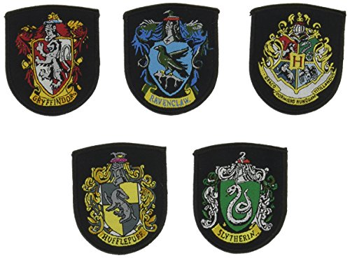 Harry Potter - Escudo Patch Set Oficial Set x5