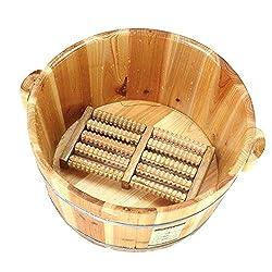 Foot Bath Barrel Solid Wood Natural Thicken Foot Basin Wooden Bucket Foot Spa Tub Household Sleep, Improve