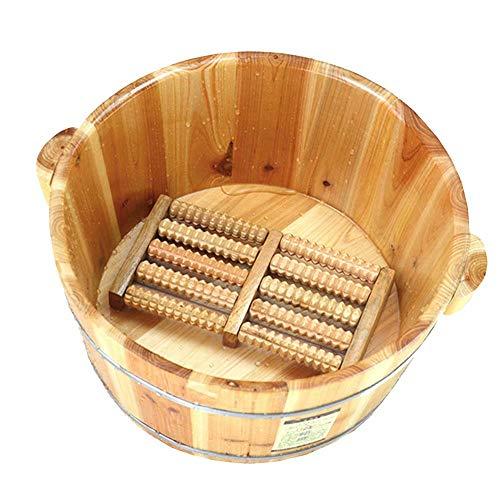 WY-Foot bath barrel Baño del pie Barril Madera Maciza Hidromasaje Hogar
