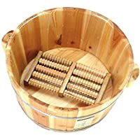 WY-Foot bath barrel Baño del pie Barril Madera Maciza Espesamiento Natural Pie Cubo De