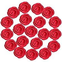 MagiDeal 100pcs Cabezas de Flores de Rose Artificiales de Espuma DIY Artesanía Decoración de Partido Boda - Rojo