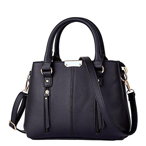 Couleur unie Croix métal locomotive PU fermeture éclair sac femme sacs sacs à main fashion dames douce sac bandoulière sac bandoulière en cuir