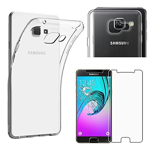 ebestStar - Compatibile Cover Samsung A5 2016 Galaxy SM-A510F Custodia Trasparente Silicone Gel Protezione Morbida Sottile, Trasparente + Pellicola Vetro Temperato [Apparecchio: 144.8x71x7.3mm 5.2'']