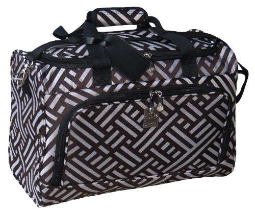 jenni-chan-signature-city-duffel-brown-silver-one-size