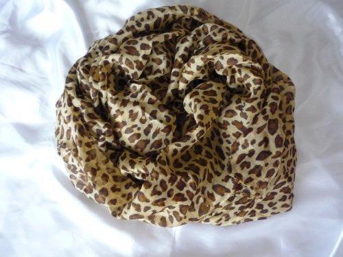 Celebrity Jewellery Damen, Größe L, Hellbraun, Motiv Leopardenmuster, Schal, 180 x 110 cm, kostenlose Zustellung und elegant