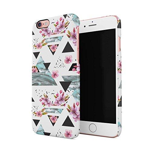 White Roses & Gold Chevron Dünne Rückschale aus Hartplastik für iPhone 6 & iPhone 6s Handy Hülle Schutzhülle Slim Fit Case cover Floral Triangle