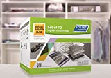 Magic Saver Sac–Eco Lot [3x l/3x XL/3x XXL/3x Jumbo] Sacs de rangement sous vide avec une pompe à main de voyage–Super Lot de 12, 3x XL, 3x XXL et 3x Jumbo + pompe à main...