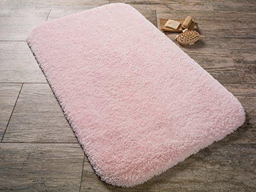 Confetti tappeto da bagno tappeto tappetino unicolore rosa lavabile antiscivolo morbido 67x120 cm oekotex