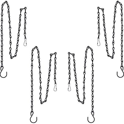 XUTONG Aufhängekette für Vogelfutterspender, Vogeltränke, Pflanzgefäße und Laternen, 88,9 cm, Schwarz, 4 Stück