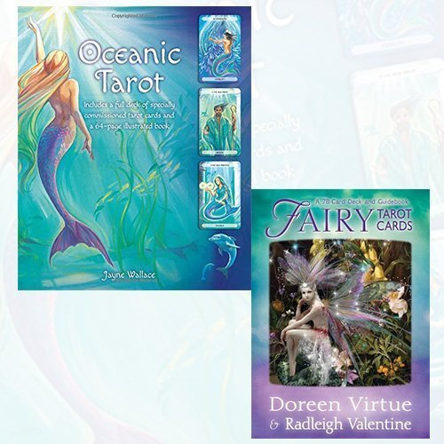 Oceanic Tarot and Fairy Tarot Cards 2 Books Bundle Collection - Includes a full deck of specially commissioned tarot cards and a 64-page illustrated book (Book & Cards),A 78-Card Deck and Guidebook [Cards] by Jayne Wallace (2016-06-07)