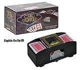Automatische batteriebetrieben Poker Casino One Two Deck Card Shuffler Sortieren
