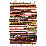 Bazaar Misr Hand Made 4 pics Kilim Carpet - Multi Color, Cotton material 70 x 100 Cm outdoor kitchen Bathroom