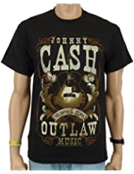 Johnny Cash - Outlaw Band T-Shirt, schwarz