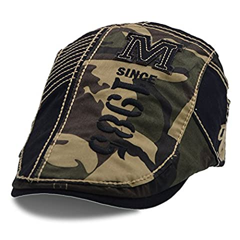 Coton unisexe Télévision Beret Hat ivy gavroche cap - UPhitnis Trashmaster Chasse Camouflage vert Cap(conduite)