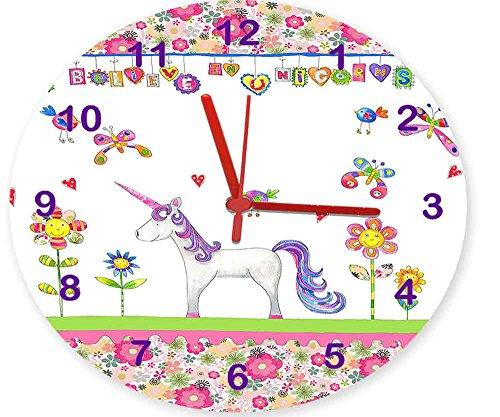 Mädchen Uhren, Einhorn Uhr, Pretty Uhr, Kinder Uhren, sagen, die Zeit, leise Uhren