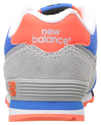 New Balance Unisex-Kinder Kl574wtg M Sneakers Multicolor (Grey/Blue/Red)