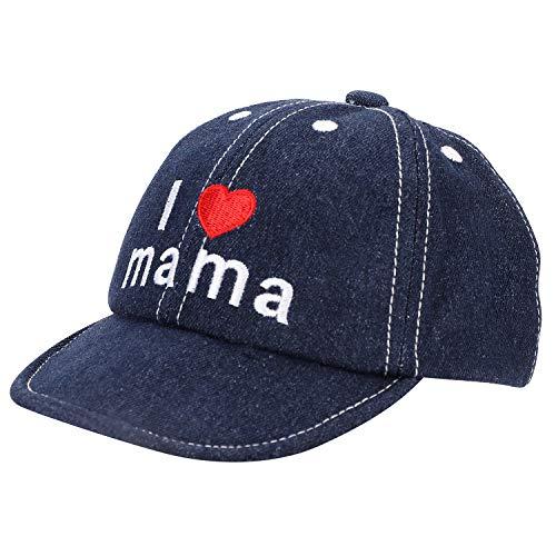 ITODA Kindercap Denim Basecap Kleinkind Sonnenmütze für 1-3 Jahre Alt Kinder Baseballkappe für Mädchen Junge Sonnenhut Baumwolle Kinderhut Sonnenschutz Mütze Sommer Hut für Outdoor Geschenk