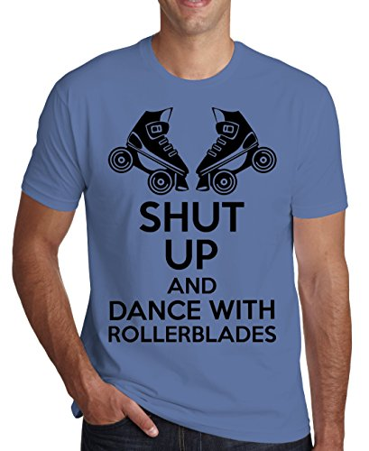 shut-up-and-dance-with-rollerblades-mens-t-shirt-small