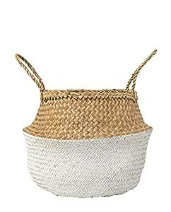 Bloomingville Basket, White, Seagrass Ø50xH34 cm