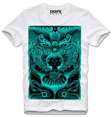 Dopehouse T-Shirt Camiseta Trippy LSD MDMA Owl Eule Acid, L