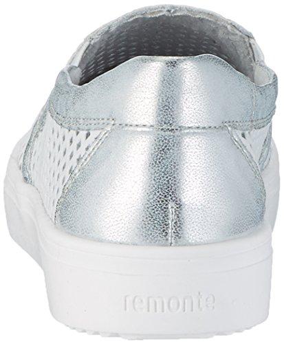 Remonte R7803, Mocassins Femme Blanc (Ice/weiss/81)
