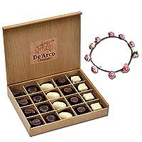 De'Arco Chocolatier Valentines Day Chocolate Gift, Premium Luxury Chocolates, 20pcs + Free Tiara
