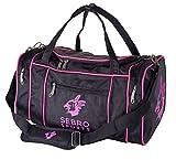 Praktische Sport-Tasche, Reise-Tasche für Damen | Trendige GYM BAG SCHWARZ / NEON-PINK für Frauen mit vielen Fächer, Schultergürtel, Tragegurt für Fitness, Sport und Reisen | SEBRO SPORTS - 30 Liter Neon Design