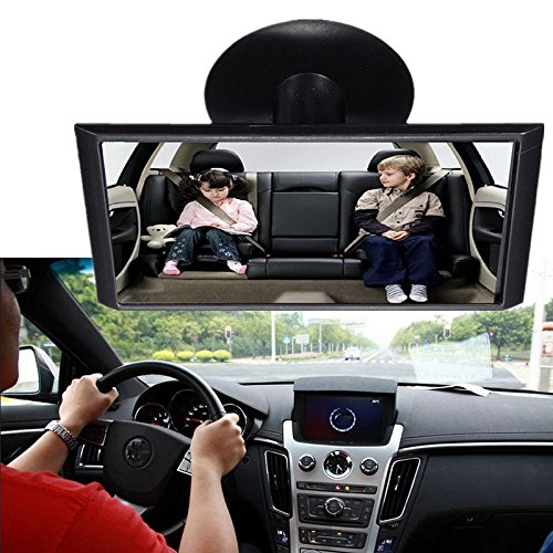 Baby Car Mirror,Kingko/® Safe Rear View Mirror Car Children Baby Back Seat Mirror Rear View Adjustable Safety Sucker Black