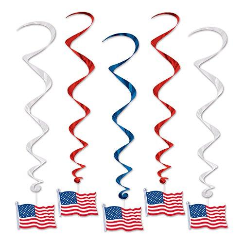 (Beistle American Flagge, 0,9m, Blau/Rot/Silber)
