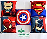 Kridhay Natura Life Set of 5 Multi Colored Decorative Hand Made Cotton Cushion Covers 16