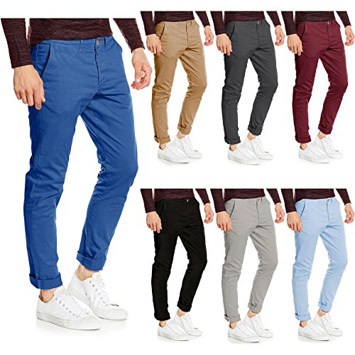 WestAce Mens Slim Fit Stretch Chino Trousers Casual Jeans Cotton Designer Pant