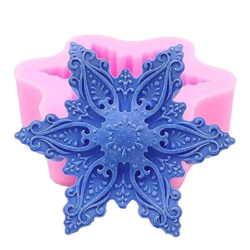 Stampo in silicone per candela, a mano sapone, artigianato, cioccolato, muffin, ice snowflake01