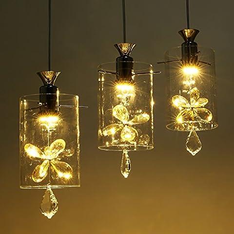 YM@YGlampadario led sala da pranzo moda lampadario di cristallo lampadario di CD con lampadario farfalla, lungo